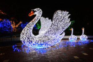 лебедь фигура светодиодная