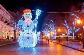 световые фигуры снеговик с метлой
