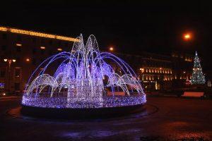 оформление световой фонтан